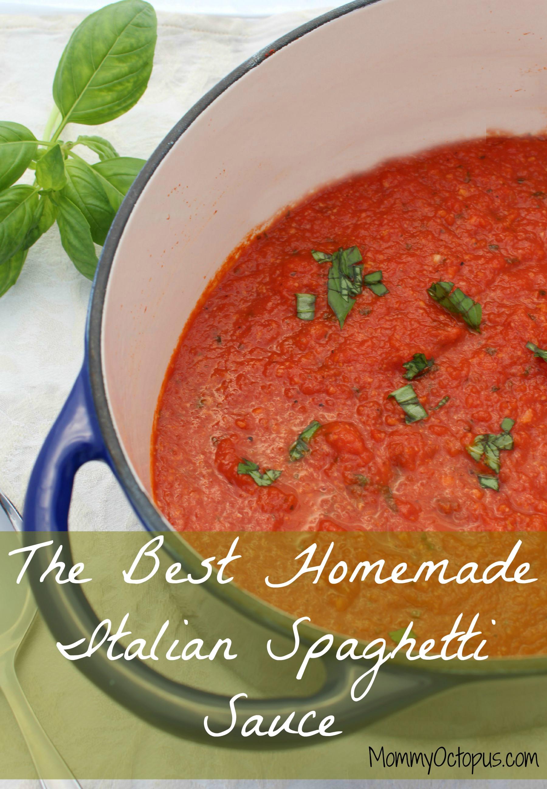 Best Homemade Spaghetti Sauce  The Best Homemade Italian Spaghetti Sauce Mommy Octopus