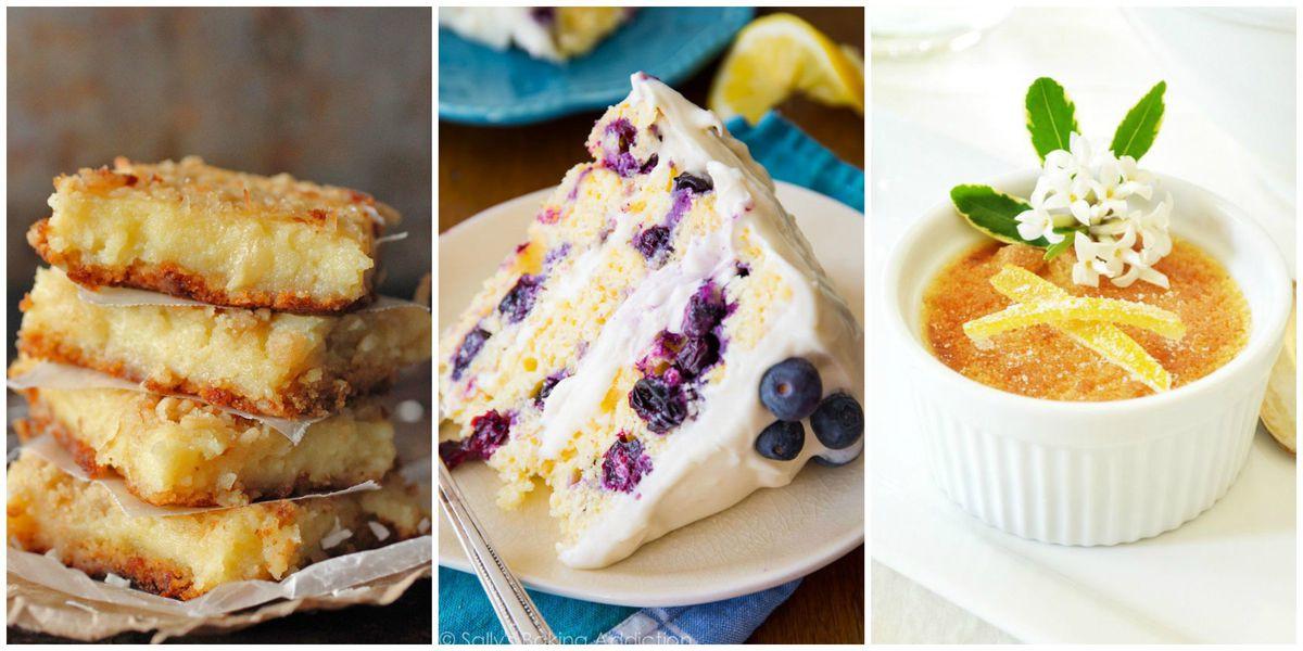 Best Lemon Desserts  25 Best Lemon Dessert Recipes Easy Ideas for Lemon Sweets