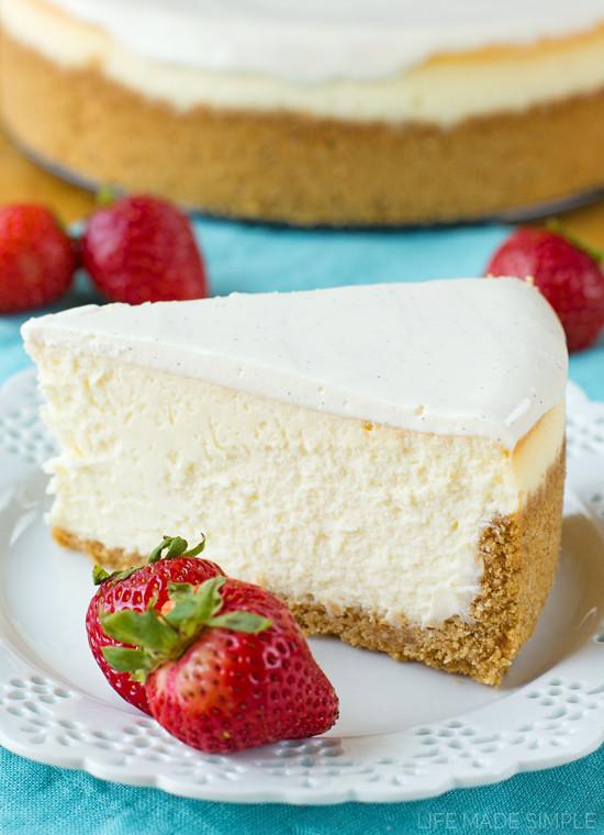 Best New York Cheesecake Recipe  Perfect New York Cheesecake Life Made Simple