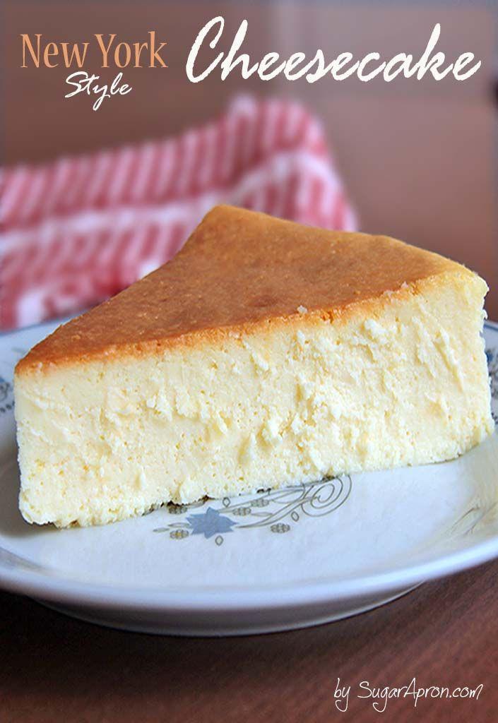 Best New York Cheesecake Recipe  25 bästa New york style cheesecake idéerna på Pinterest