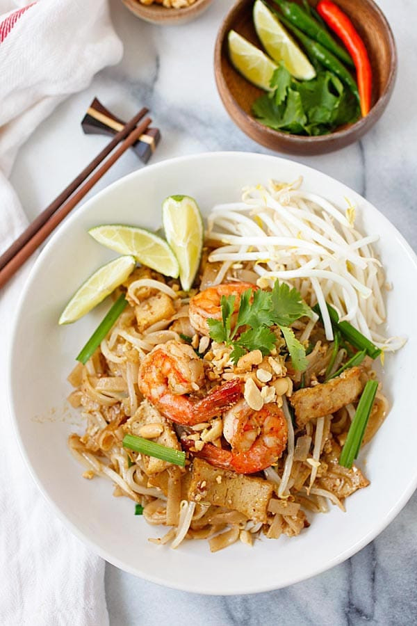 Best Pad Thai  Shrimp Pad Thai Recipe Homemade & Healthy Rasa Malaysia