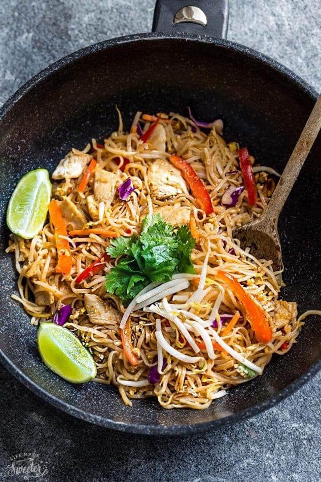 Best Pad Thai  Chicken Pad Thai Noodles BEST Meal Prep RECIPE VIDEO