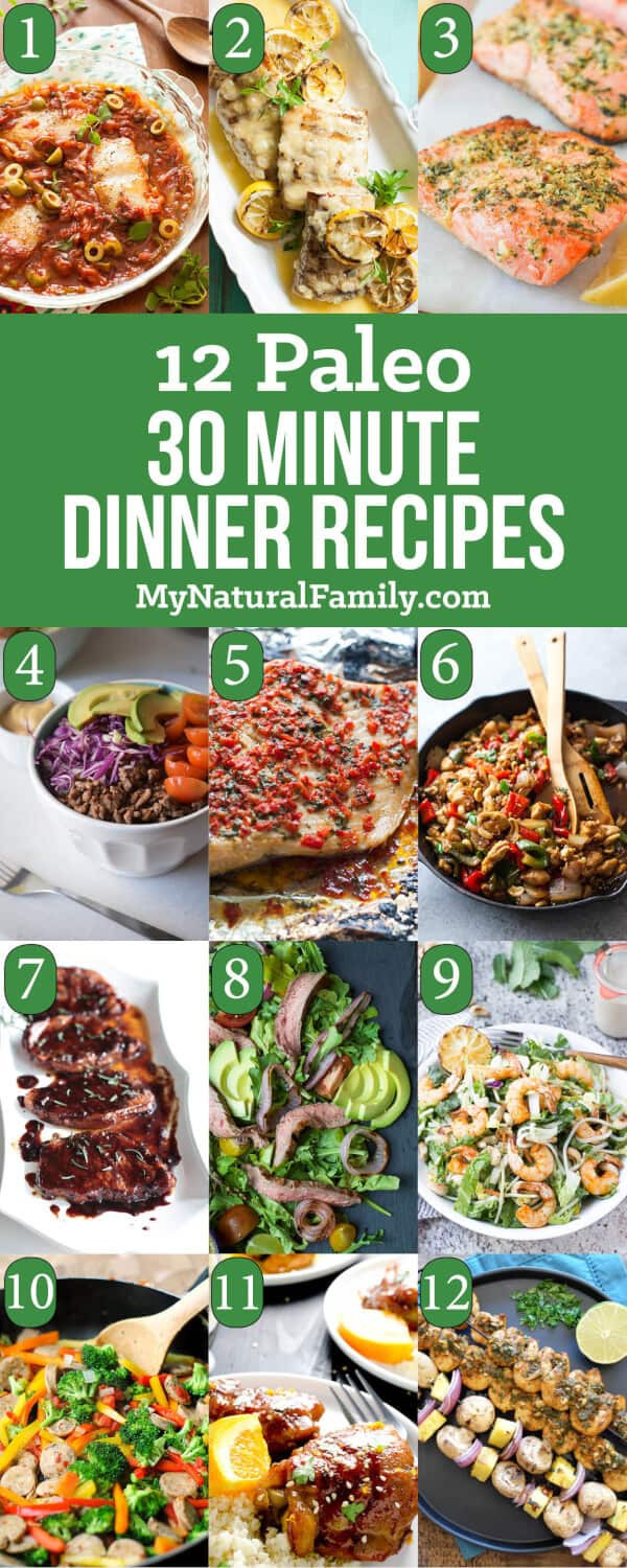 Best Paleo Dinner Recipes  12 of the Best 30 Minute Quick and Easy Paleo Dinner Recipes