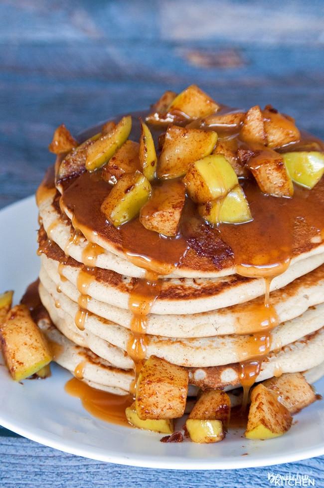 Best Pancakes Ever  Caramel Apple Blender Pancakes