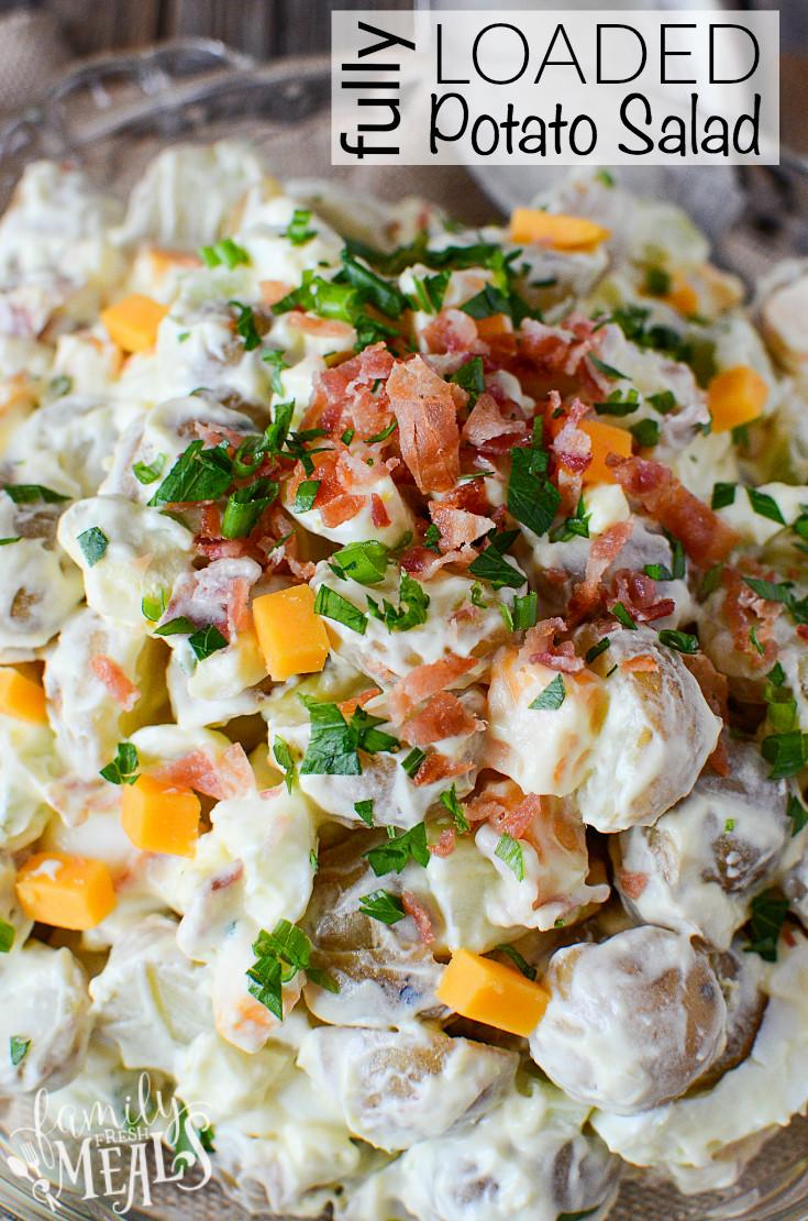 Best Potato Recipes  FULLY LOADED POTATO SALAD Family Fresh Meals