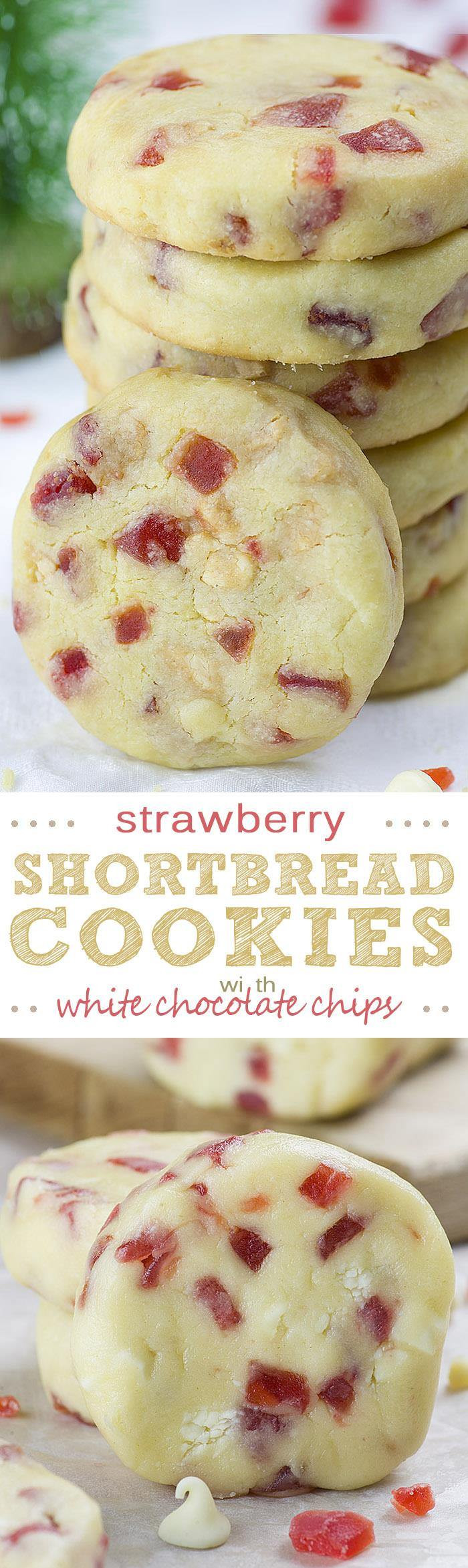 Best Shortbread Cookies  White Chocolate Strawberry Shortbread Cookies