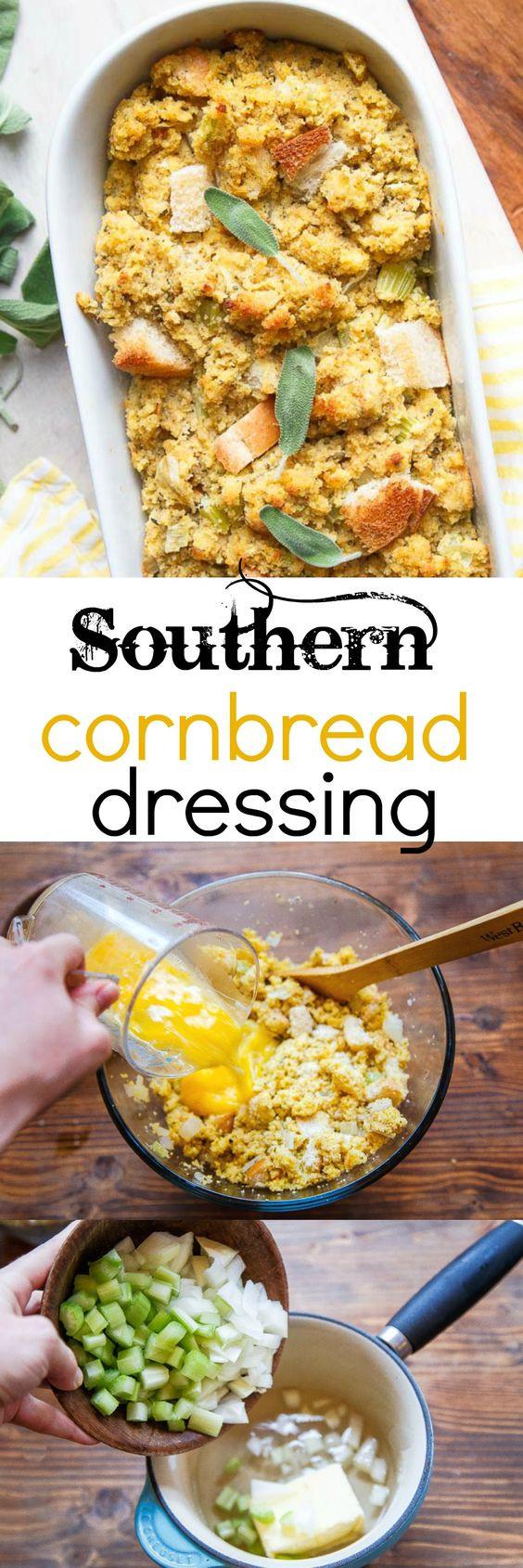 Best Southern Cornbread Recipe  A Small Thanksgiving Southern Cornbread Dressing