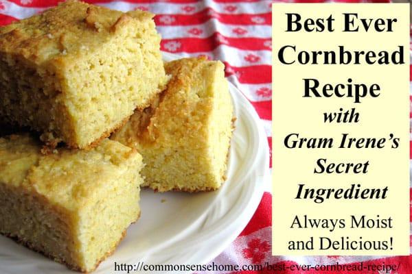 Best Southern Cornbread Recipe  Best Ever Cornbread Recipes Northern and Southern Style