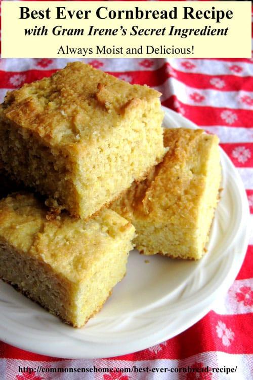 Best Southern Cornbread Recipe  Best Ever Cornbread Recipes – Northern and Southern Style