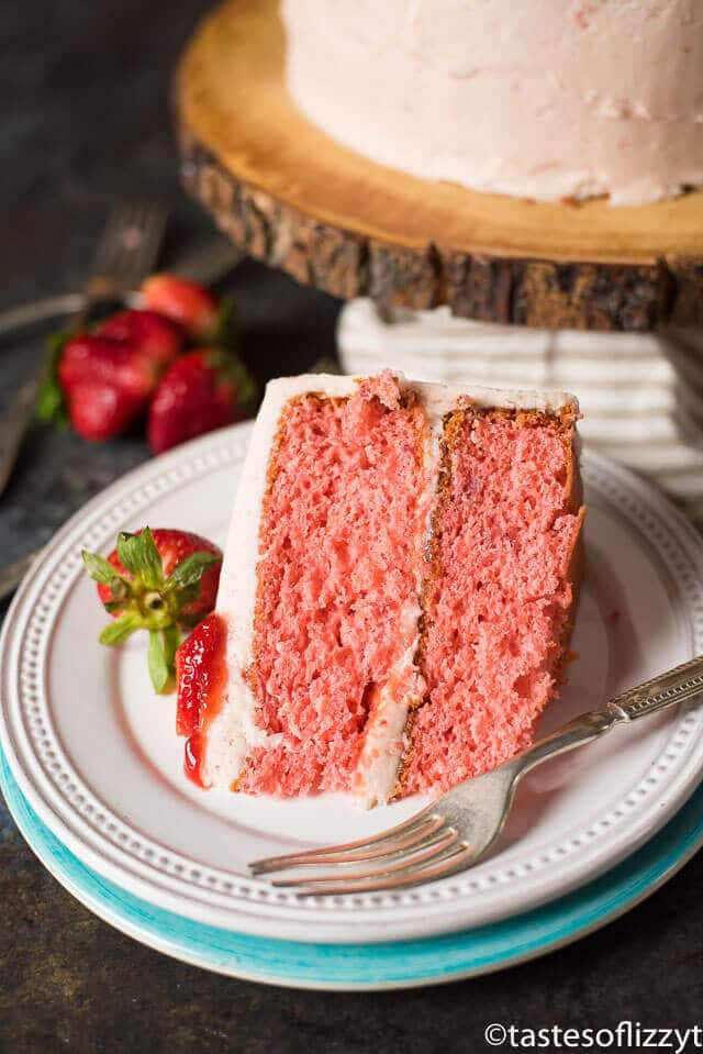 Best Strawberry Cake Recipe  Easy Strawberry Cake Recipe Instructions for 2 Layer Cake