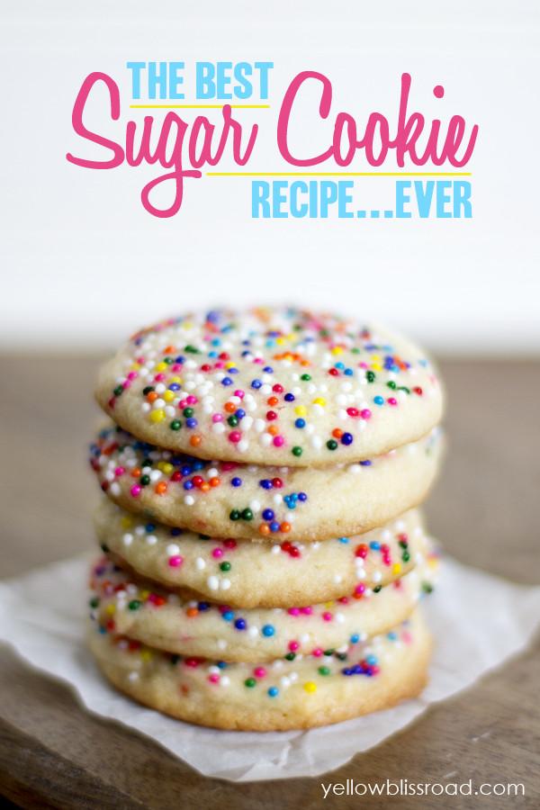 Best Sugar Cookies  The Best Sugar Cookie Recipe EVER Yellow Bliss Road