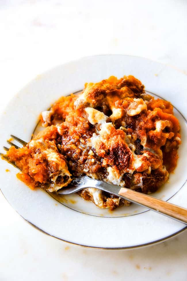 Best Sweet Potato Casserole Recipe Ever  Sweet Potato Casserole with Marshmallows AND Pecan Topping