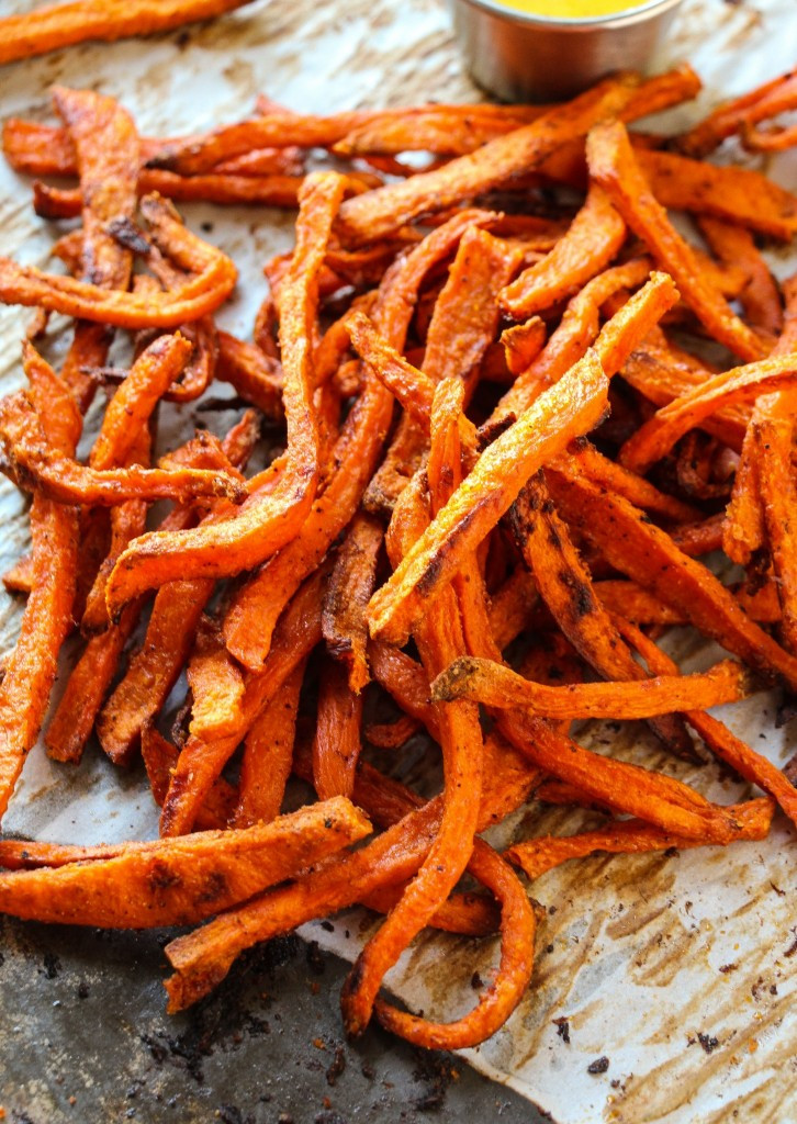 Best Sweet Potato Fries  Extra Crispy Baked Sweet Potato Fries Layers of Happiness