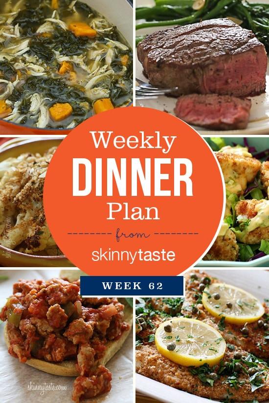 Best Tasting Frozen Dinners 2017  Skinnytaste Dinner Plan Week 62
