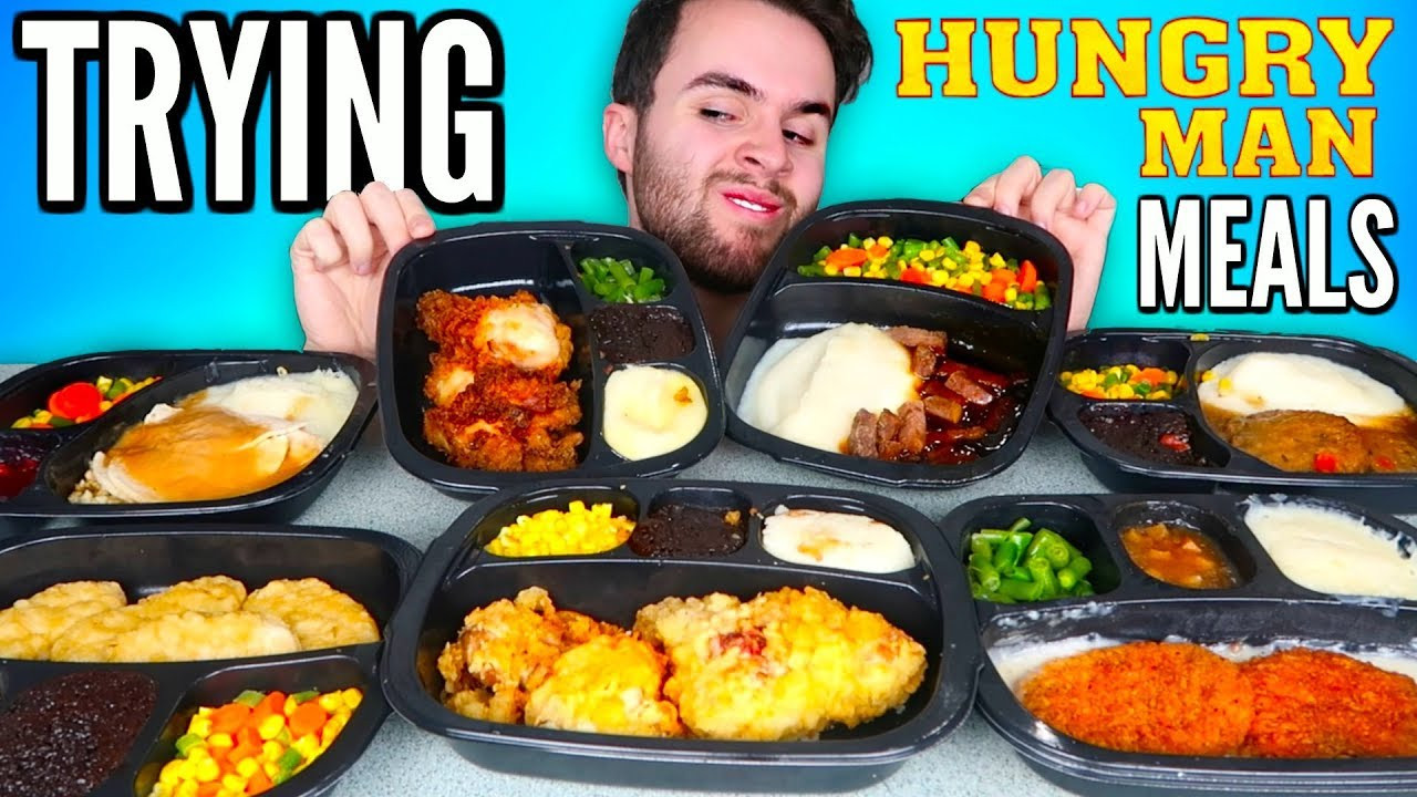 Best Tasting Frozen Dinners 2017  TRYING HUNGRY MAN FROZEN MEALS Fried Chicken Meal