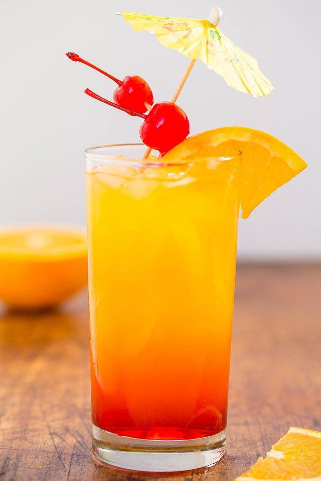 Best Tequila Drinks  Best 25 Tequila sunrise drink ideas on Pinterest