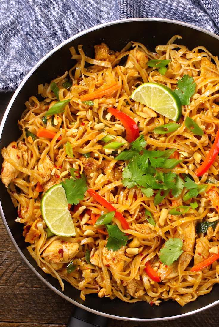 Best Thai Recipes  20 Minute Easy Chicken Pad Thai Recipe with Video