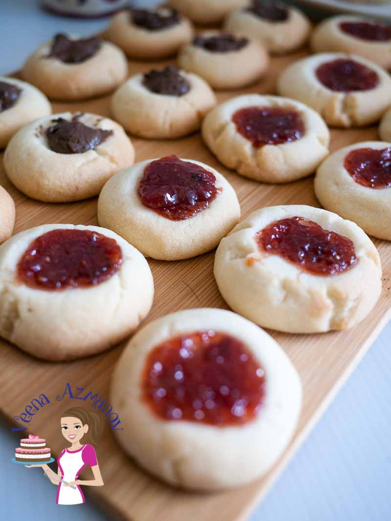 Best Thumbprint Cookies  The BEST Thumbprint Cookies Eggless Jam Cookies Recipe