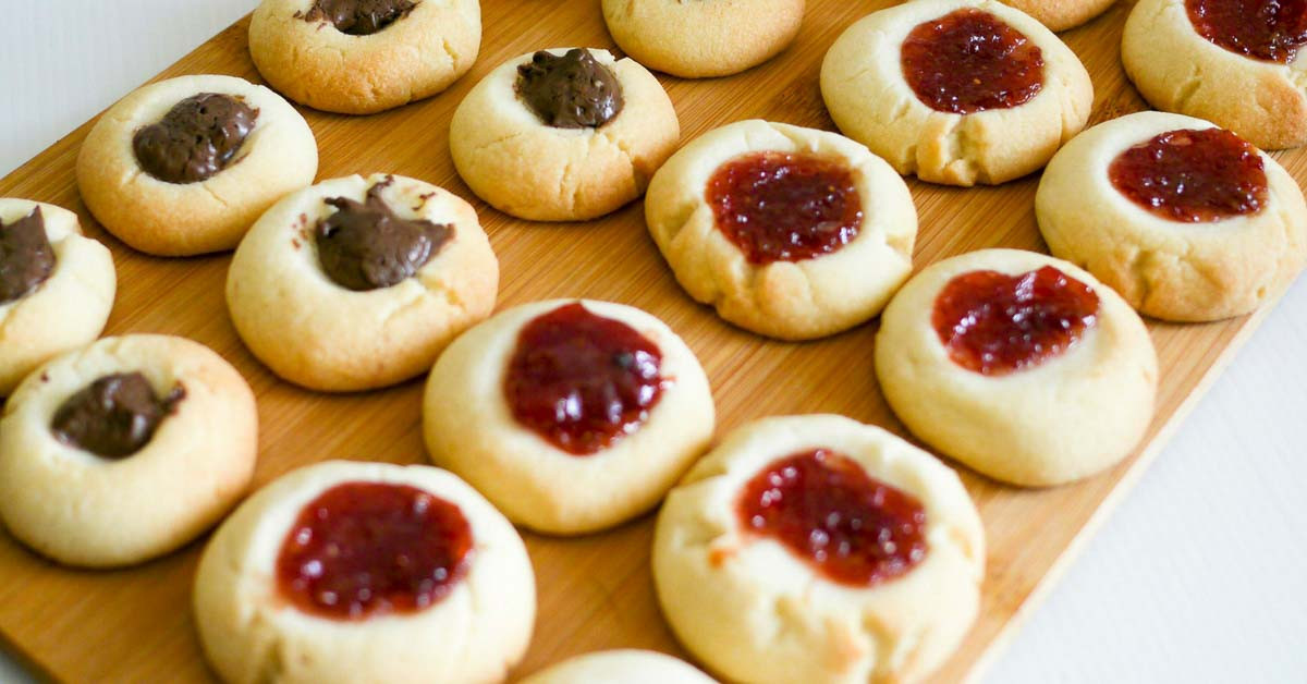 Best Thumbprint Cookies  The BEST Thumbprint Cookies Egg less Jam Cookies Recipe