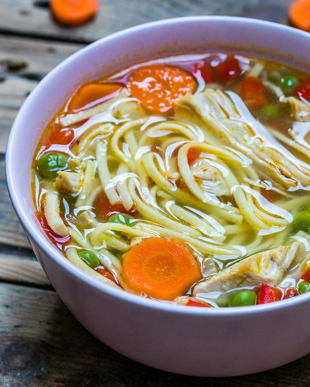 Best Turkey Soup  Leftover Turkey Noodle Soup An Easy Turkey Noodle Soup