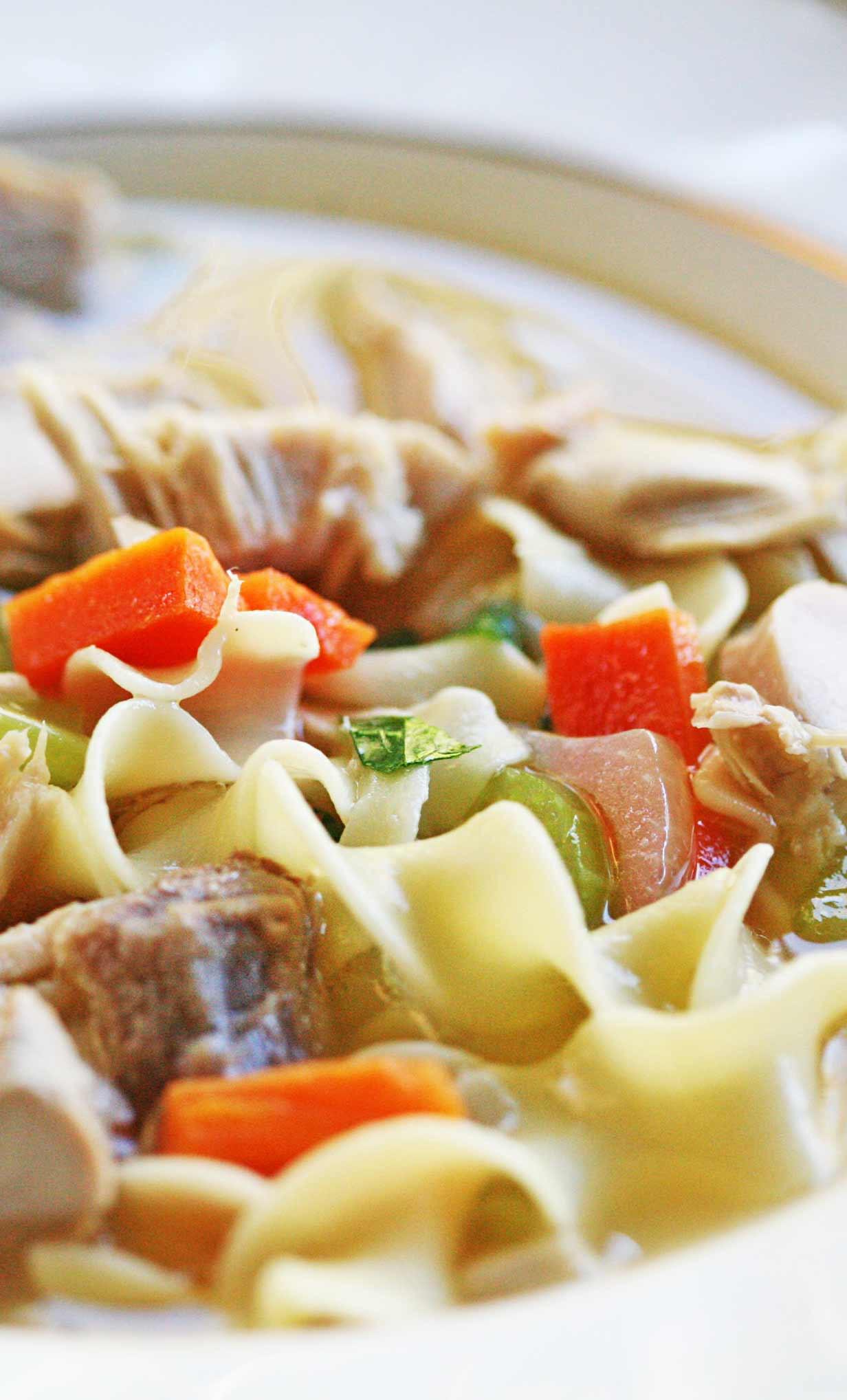 Best Turkey Soup  Mom's Turkey Soup Recipe