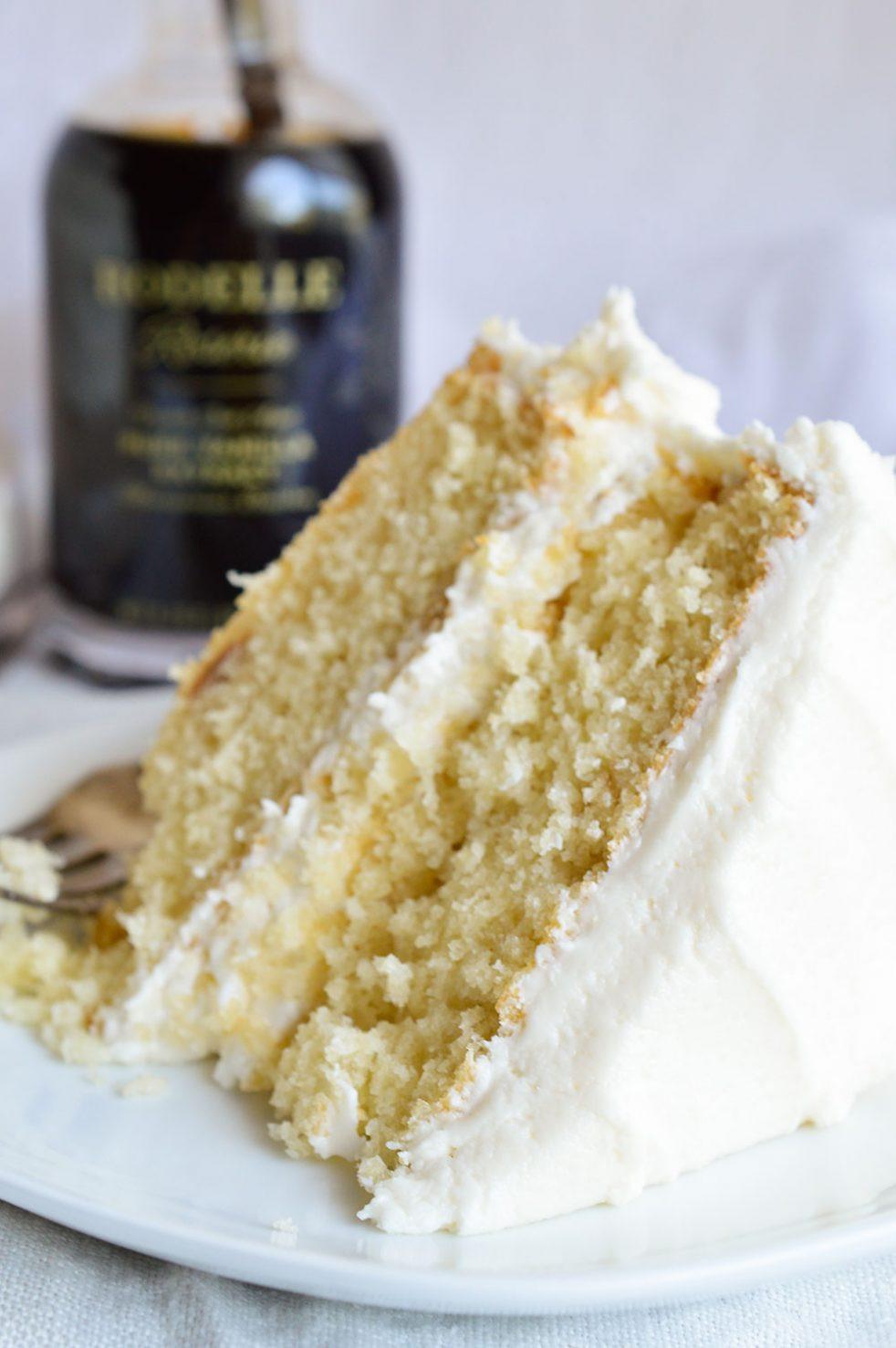 Best Vanilla Cake Recipe  Buttermilk Vanilla Cake Recipe From Scratch