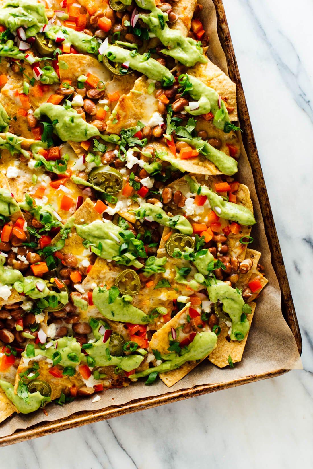 Best Vegetarian Recipes  Loaded Veggie Nachos Recipe Cookie and Kate