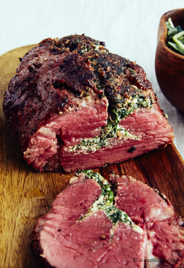 Best Way To Cook Beef Tenderloin  Beef tenderloin roast recipe with spinach and walnuts