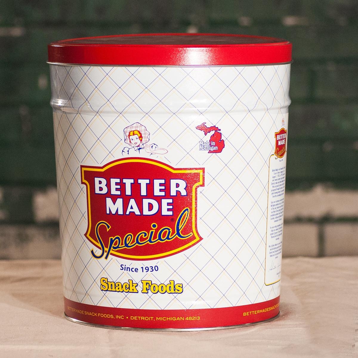 Better Made Potato Chips  Better Made Potato Chips Tin – Detroit Mercantile