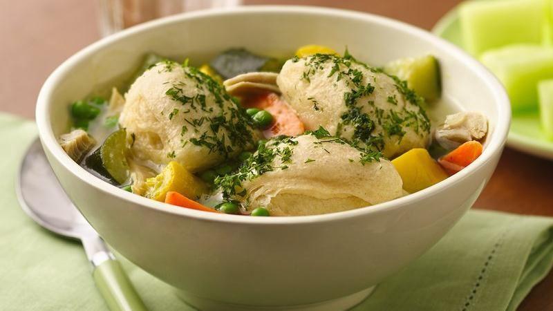 Betty Crocker Chicken And Dumplings  Summer Chicken Soup with Biscuit Dumplings recipe from