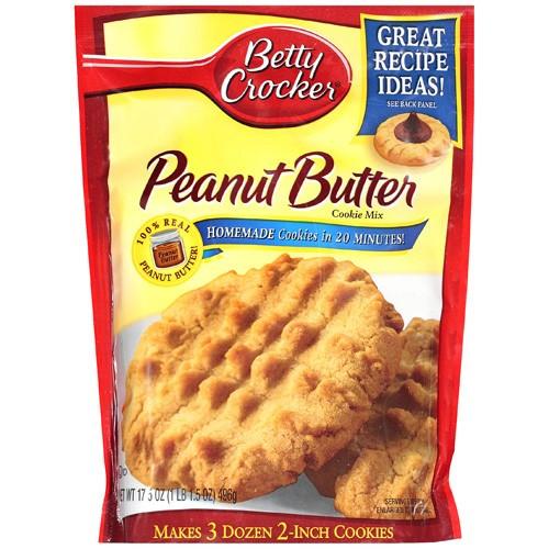 Betty Crocker Peanut Butter Cookies  Betty Crocker Peanut Butter Cookie Mix 17 5 oz 496g 12