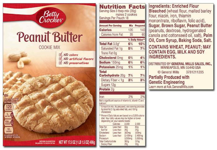 Betty Crocker Peanut Butter Cookies  Betty Crocker Product List