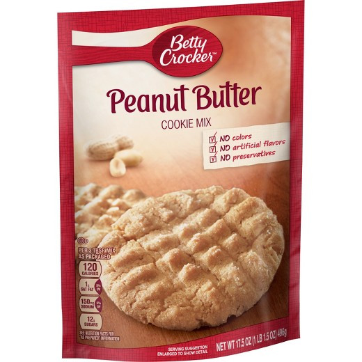 Betty Crocker Peanut Butter Cookies  Betty Crocker Peanut Butter Cookie Mix 17 5oz Tar