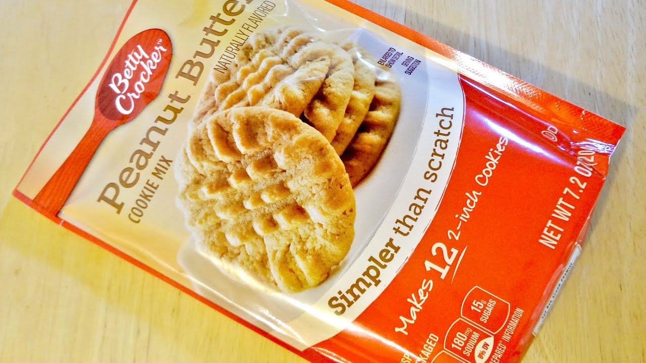 Betty Crocker Peanut Butter Cookies  adding peanut butter to betty crocker cookie mix