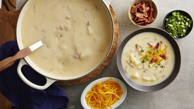 Betty Crocker Potato Soup  Loaded Potato Soup recipe from Betty Crocker
