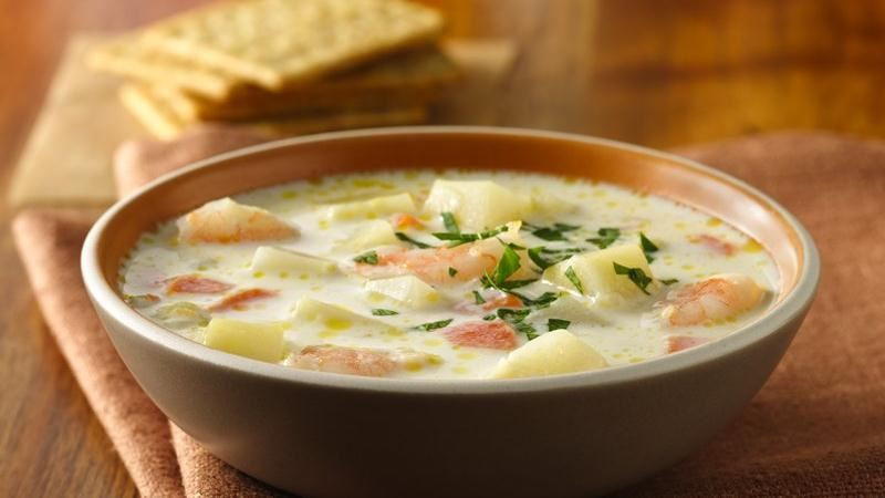 Betty Crocker Potato Soup  Fresh Potato Soup with Shrimp recipe from Betty Crocker