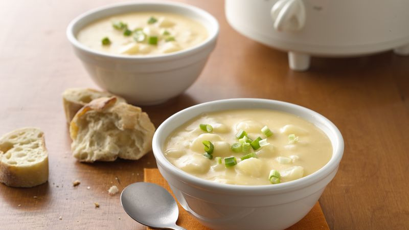 Betty Crocker Potato Soup  Cheesy Potato Slow Cooker Soup recipe from Betty Crocker
