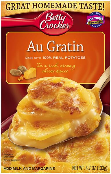 Betty Crocker Scalloped Potatoes  Betty Crocker Au Gratin Potatoes