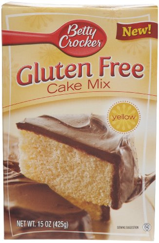 Betty Crocker Yellow Cake Mix  Betty Crocker Gluten Free Yellow Cake Mix 15 Ounce Boxes