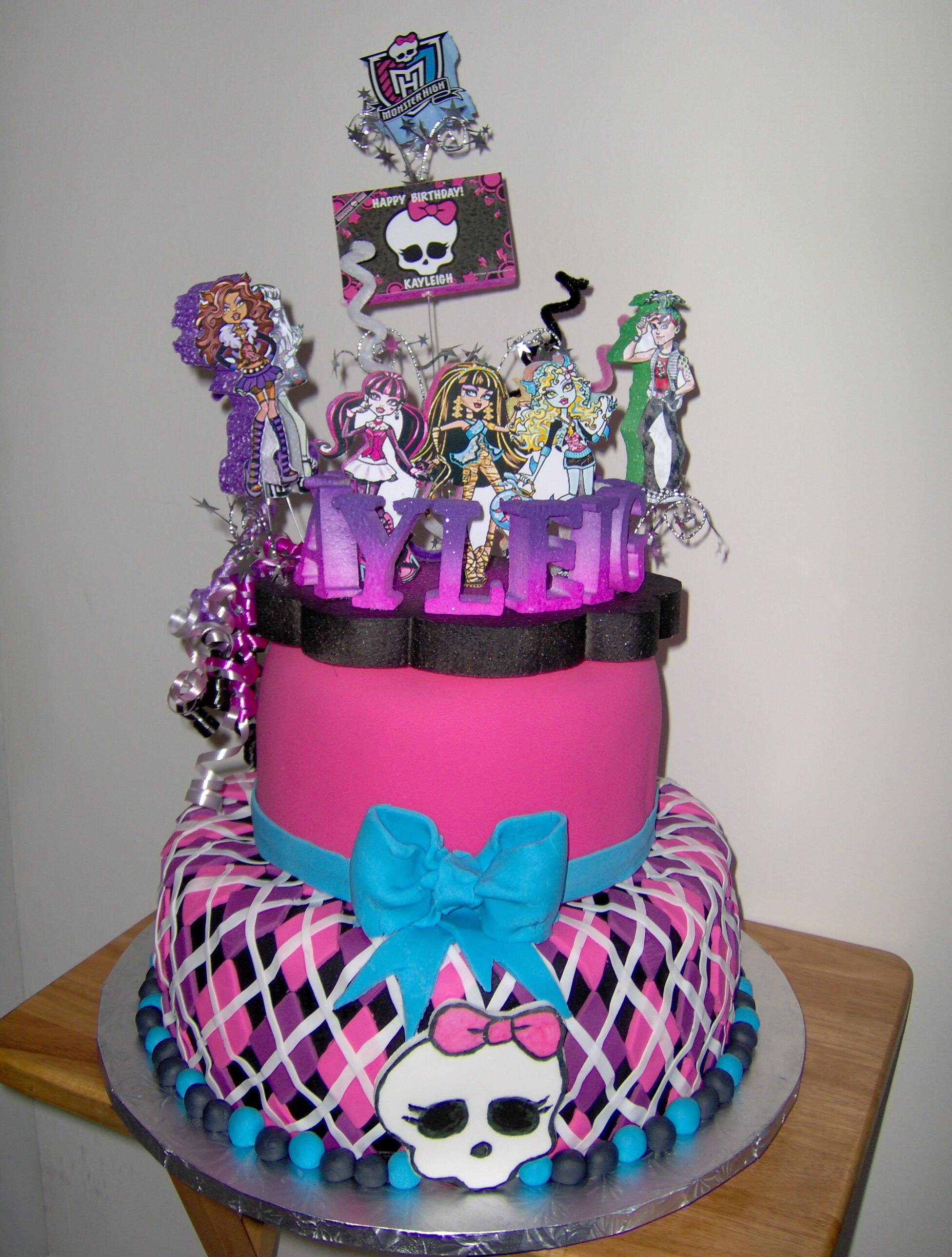 Birthday Cake Designs  25 Monster High Cake Ideas and Designs EchoMon