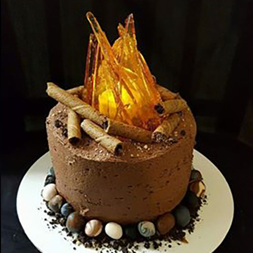 Birthday Cake Fire  Camp Fire Cake – Malizzi Cakes & Pastries