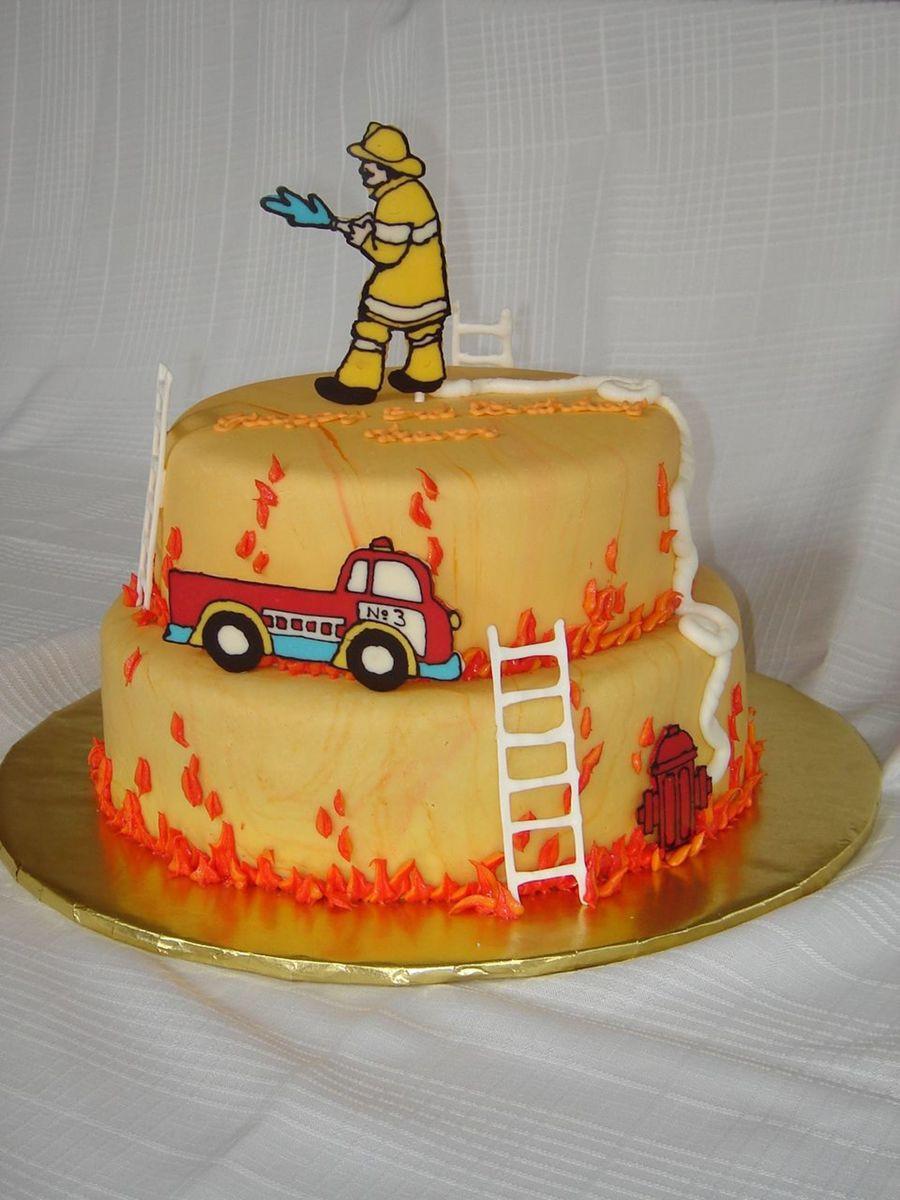 Birthday Cake Fire  Firefighter Birthday Cake CakeCentral