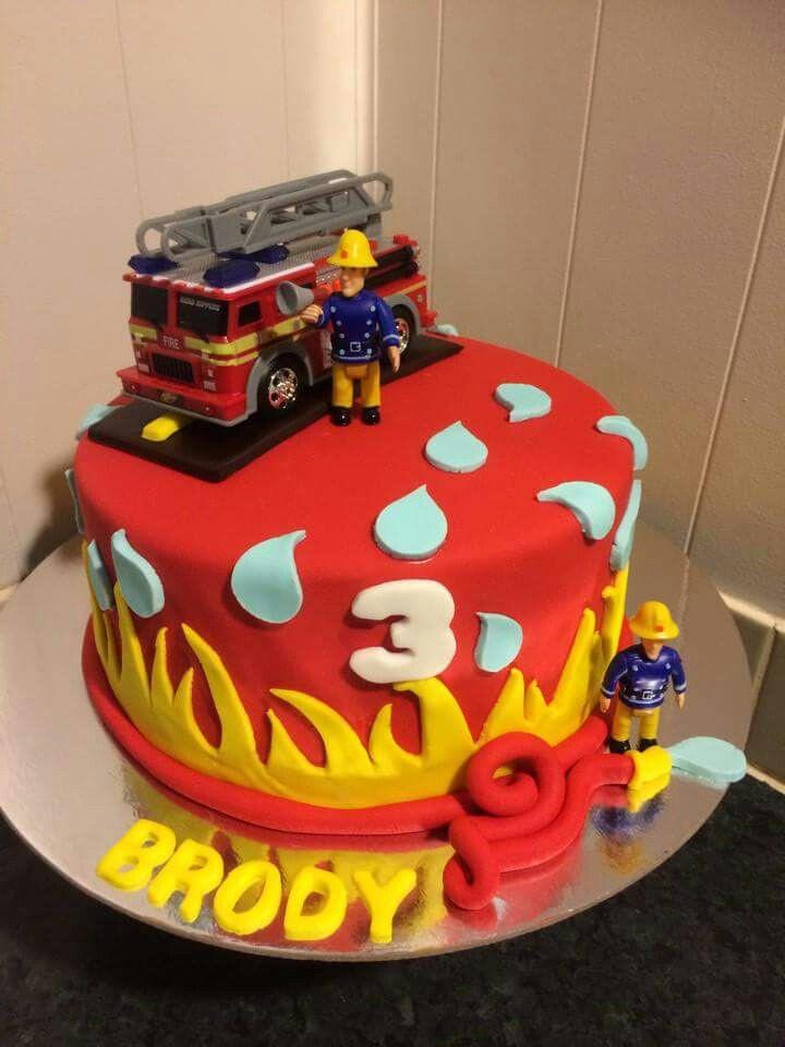 Birthday Cake Fire  Fireman Sam cake MOM s BABY SHOWER Pinterest