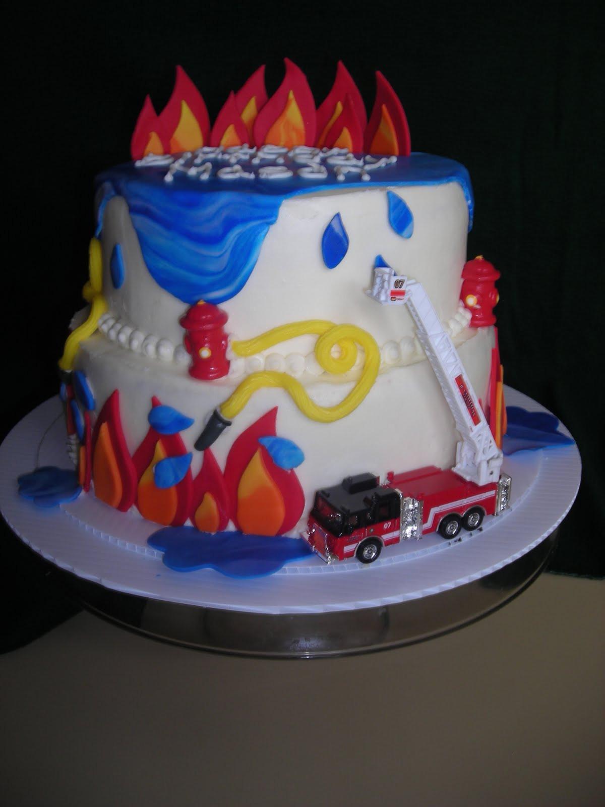 Birthday Cake Fire  pattycakes Fireman Theme Birthday Cake