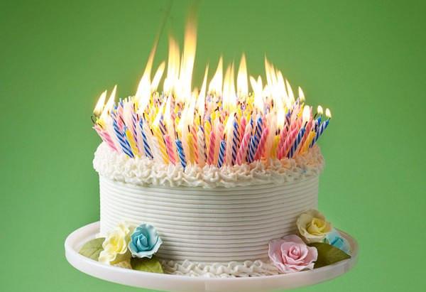 Birthday Cake Fire  Cryus Tea is x years old