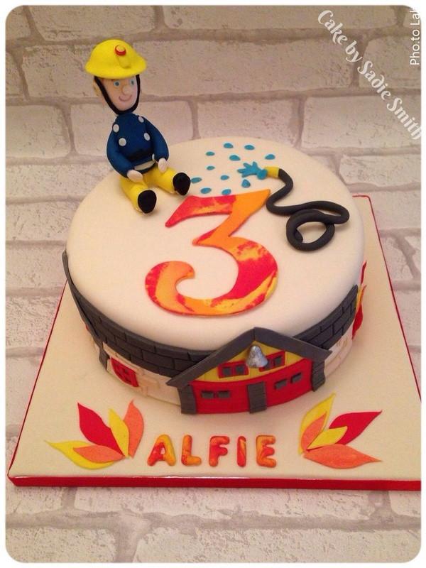 Birthday Cake Fire  Fireman Sam Birthday Cake Cake by Sa Smith