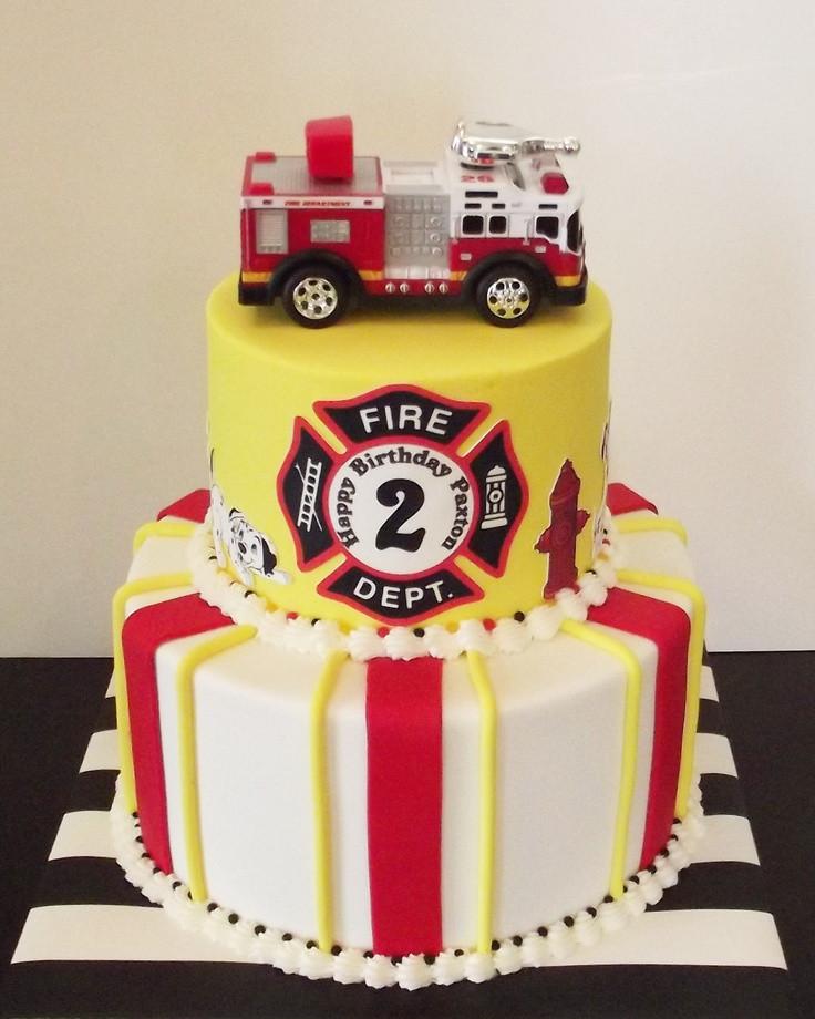 Birthday Cake Fire  Little Fireman Birthday Cake