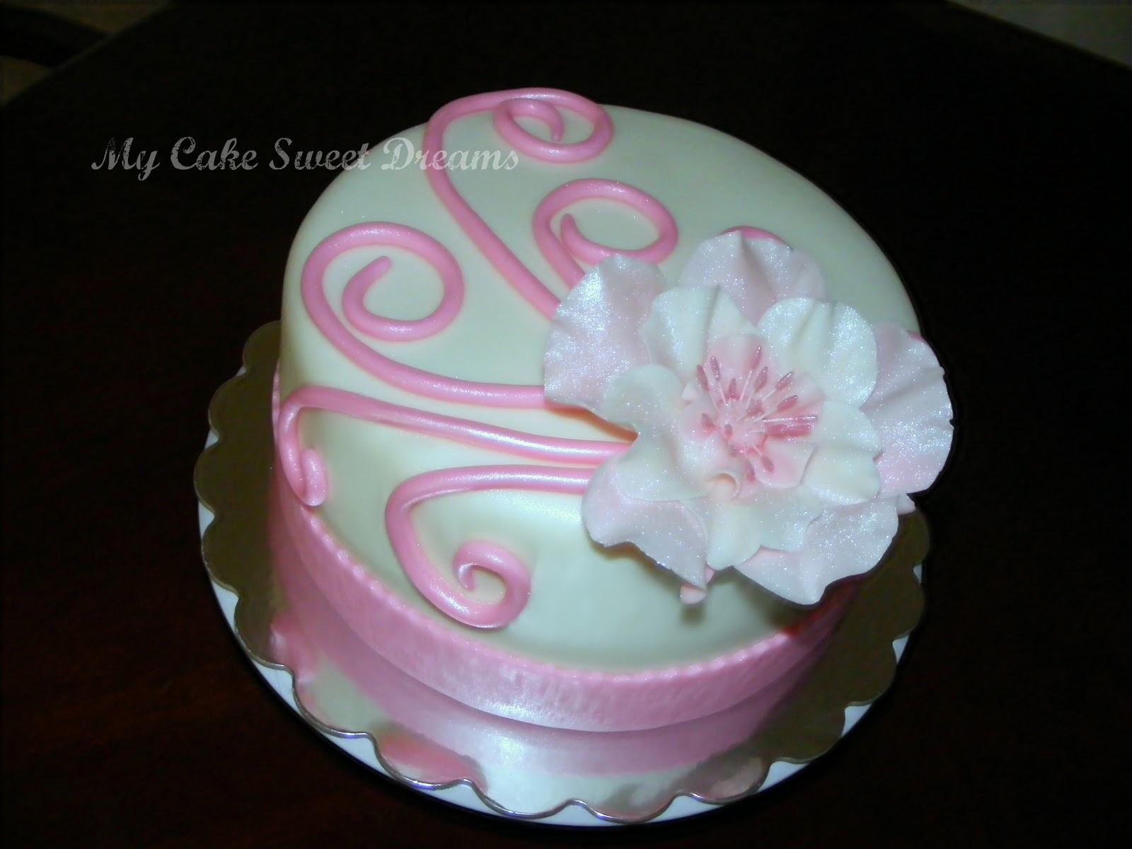 Birthday Cake For Mom  My Cake Sweet Dreams Mom s Birthday Cake