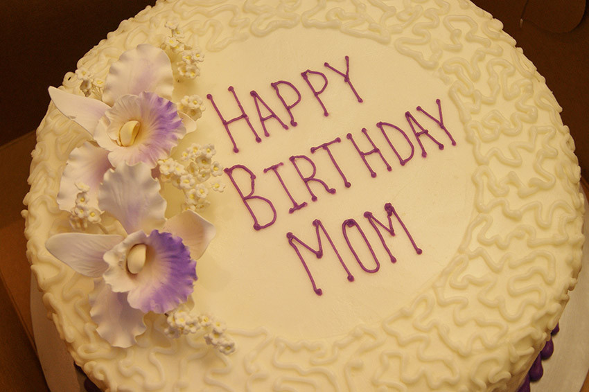 Birthday Cake For Mom  Birthday cake for Mom with Mother s Wishes and Messages