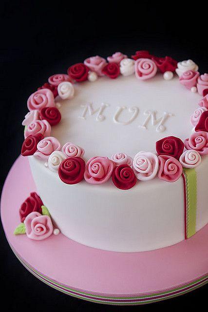 Birthday Cake For Mom  Ring O Roses in 2019 Cakes